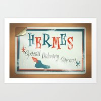 Hermes Special Delivery … Art Print