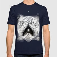 Cosmic Heart Beat 'Mono Dual'   Mens Fitted Tee Navy SMALL