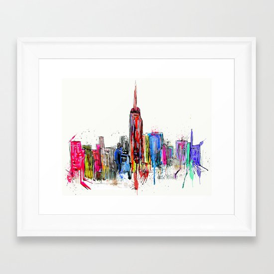 new york inked  Framed Art Print