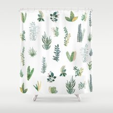 green garden Shower Curtain