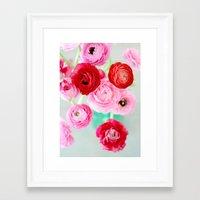 Ranunculus Confetti Framed Art Print