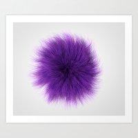 Purple Fuzz Art Print