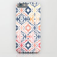 iPhone Cases featuring Tropical Ikat Damask by micklyn