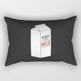 Rectangular Pillow - He Need Some Milk - Zeke Tucker
