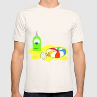 BUBOL BALL Mens Fitted Tee Natural SMALL