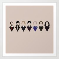 Art Prints featuring In Loving Memory of Alan Rickman by Tinylavafish