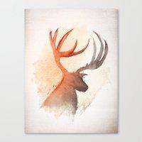 Sunlight Deer Canvas Print