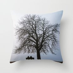 That night we sat together under a tree Throw Pillow