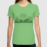 We Belong In Portland Womens Fitted Tee Grass SMALL