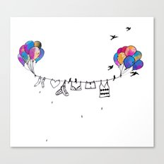 Clothes line Canvas Print