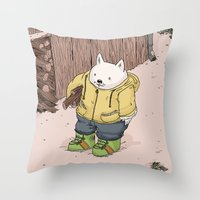Firewood Throw Pillow
