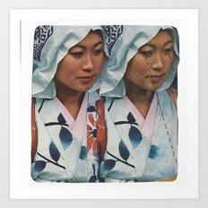 Twin Sister Art Print
