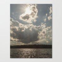 afternoon at lake Canvas Print