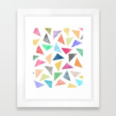 Colorful geometric pattern  Framed Art Print