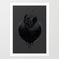 Paint the Black Hole Blacker Art Print