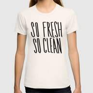 SO Fresh SO Clean Womens Fitted Tee Natural SMALL