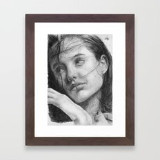 Angelina Jolie Traditional Portrait Print Framed Art Print