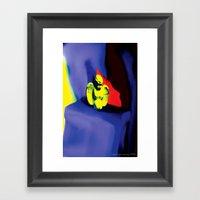 Lamentation In Blue, Yel… Framed Art Print