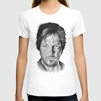 Daryl Dixon Womens Fitted Tee White SMALL