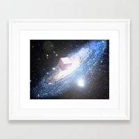 Space Cube Framed Art Print