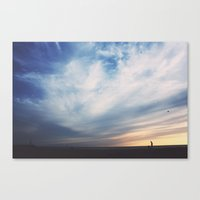 A Sunset Canvas Print