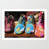 Flea Market Shoes Art Print