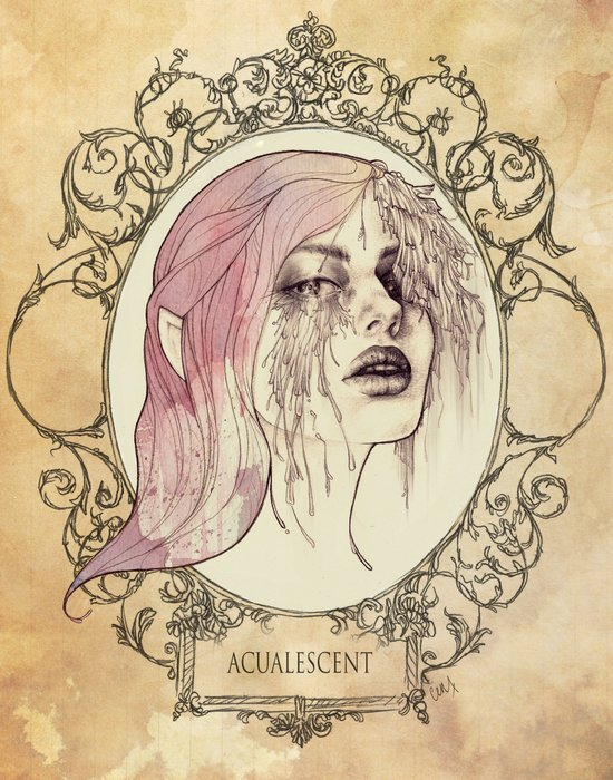 ACUALESCENT - Framed and Stained Art Print