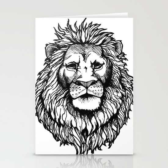 Lion Stationery Card