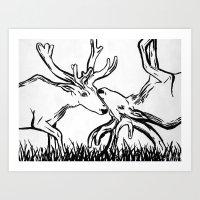Reverse Caribou Art Print