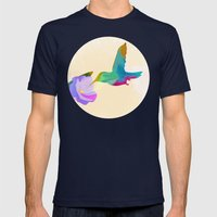 The Hummingbird Mens Fitted Tee Navy SMALL