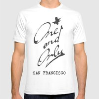 One And Only - San Franc… Mens Fitted Tee White SMALL