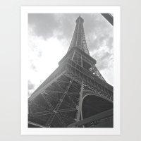 eiffel Art Prints featuring Eiffel by Nicole Christine
