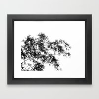 Silhouette of Bamboo Branches Framed Art Print