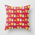 lemon, tequila and salt Throw Pillow