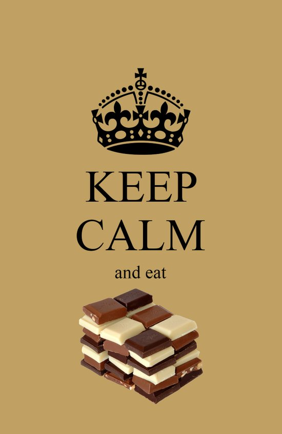 KEEP CALM and eat chocolate Art Print