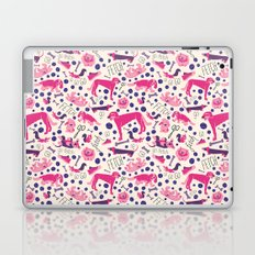 Park dogs in Pink Laptop & iPad Skin