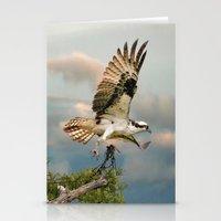 Osprey With Nesting Mate… Stationery Cards