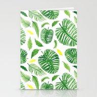 Palm Leaf Pattern Stationery Cards