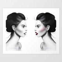 Double Vixen Art Print