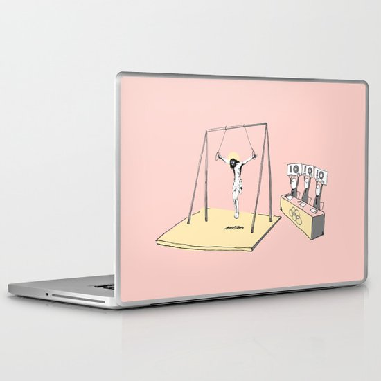 Jesus goes for gold! Laptop & iPad Skin