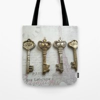 Love Joy Skeleton Key Ar… Tote Bag