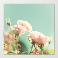 Velvet Roses, Blue Skies Canvas Print