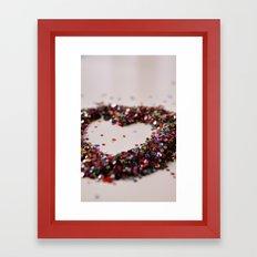 Glitter Heart Framed Art Print
