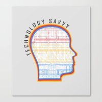 Technology Savvy Canvas Print