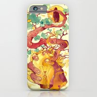 iPhone Cases featuring Glow Green by choppre