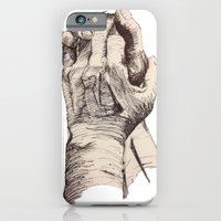 iPhone Cases featuring Take My Hand by Spaceplants art