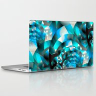 Fractal Waves (turquoise… Laptop & iPad Skin