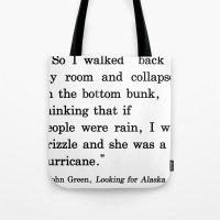 She Was A Hurricane Tote Bag