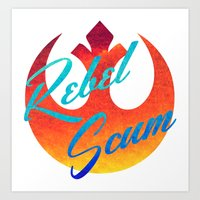 Star Wars Rebel Scum Art Print