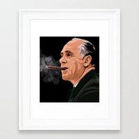 Red Aurbach: Boston Celtics Framed Art Print